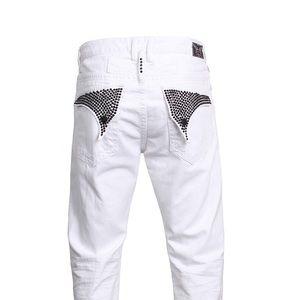 Robin's Jean Jet Black Swarovski Long Flap Pockets